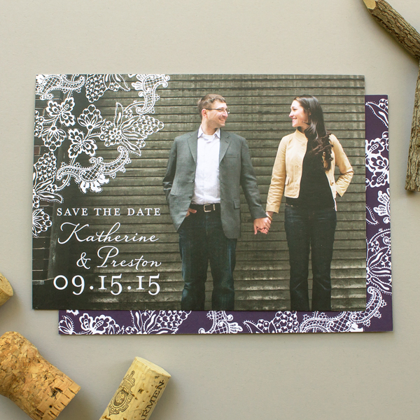 winery theme save the date