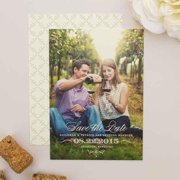 classic wedding save the dates