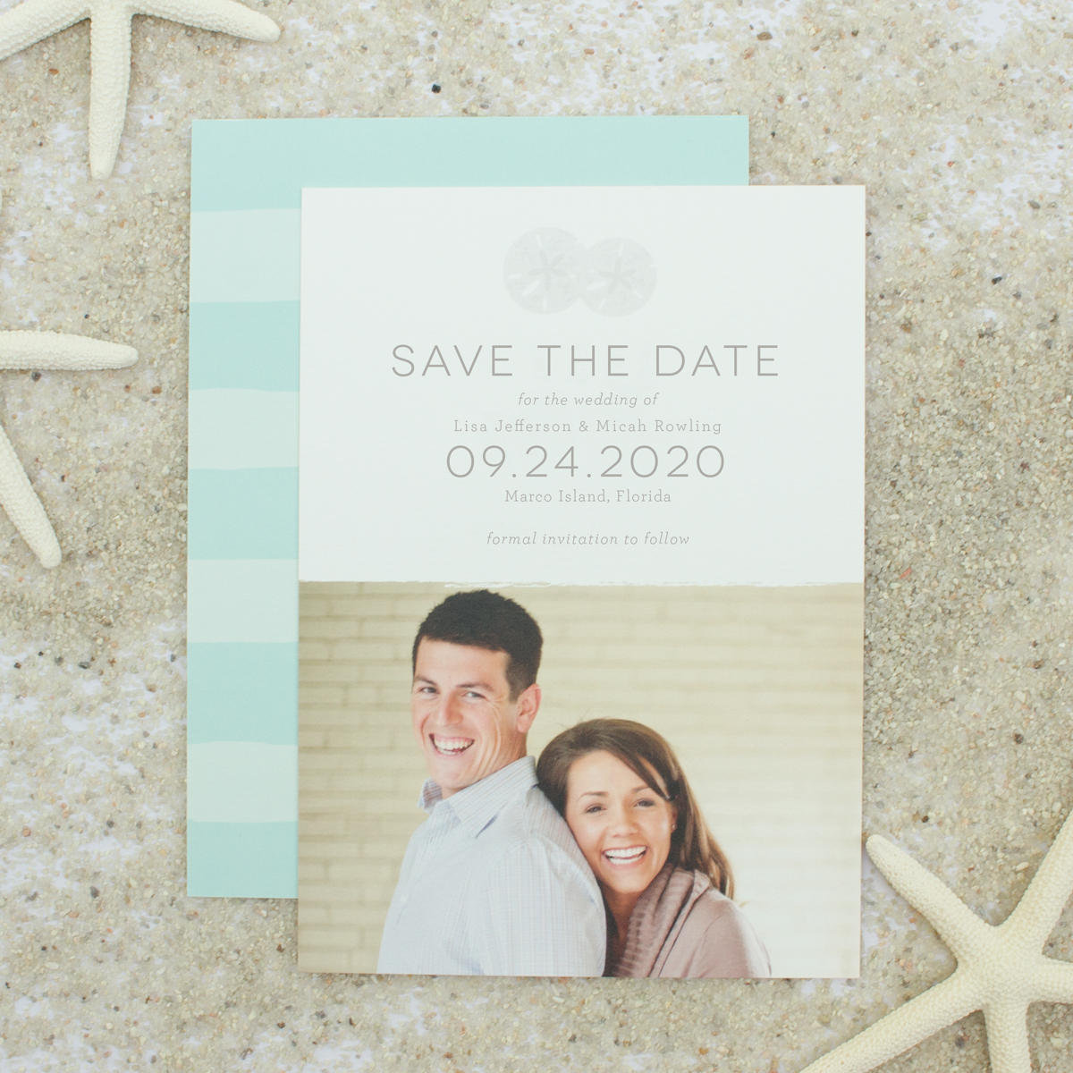 beach wedding save the dates