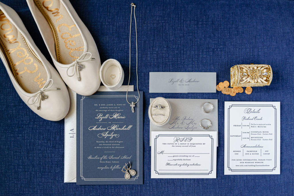 Notre Dame wedding invitation suite