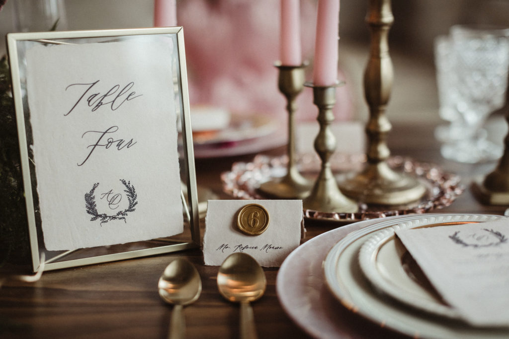table number wax seal escort cards
