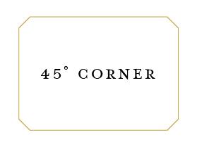 45 degree corner die cut