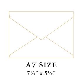 a7 envelope sizes