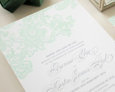 Classic Letterpress Invitation | Besotted