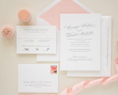 Typographic Letterpress Invitations | Blushing