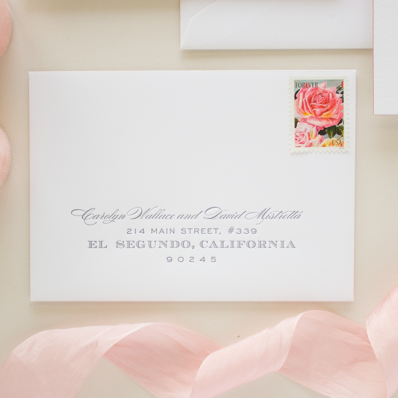 letterpress envelope address