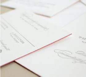 pink edging letterpress