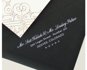 white ink envelope printing