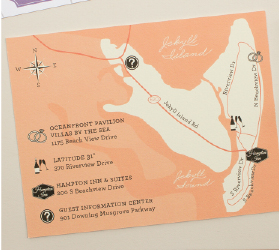 custom map of jekyll island