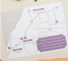 custom map for wedding invitation