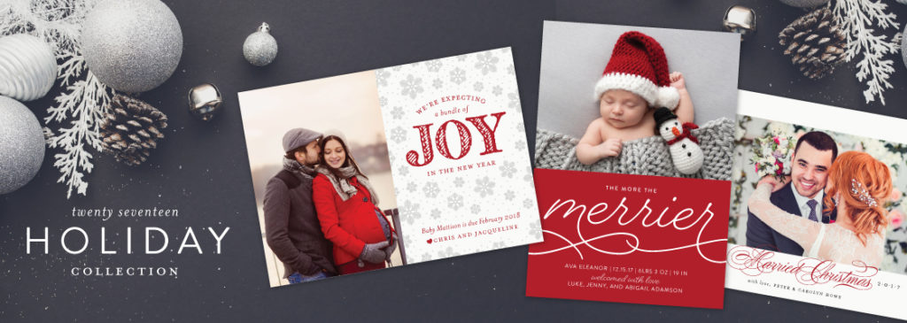 christmas cards and holiday party invitations