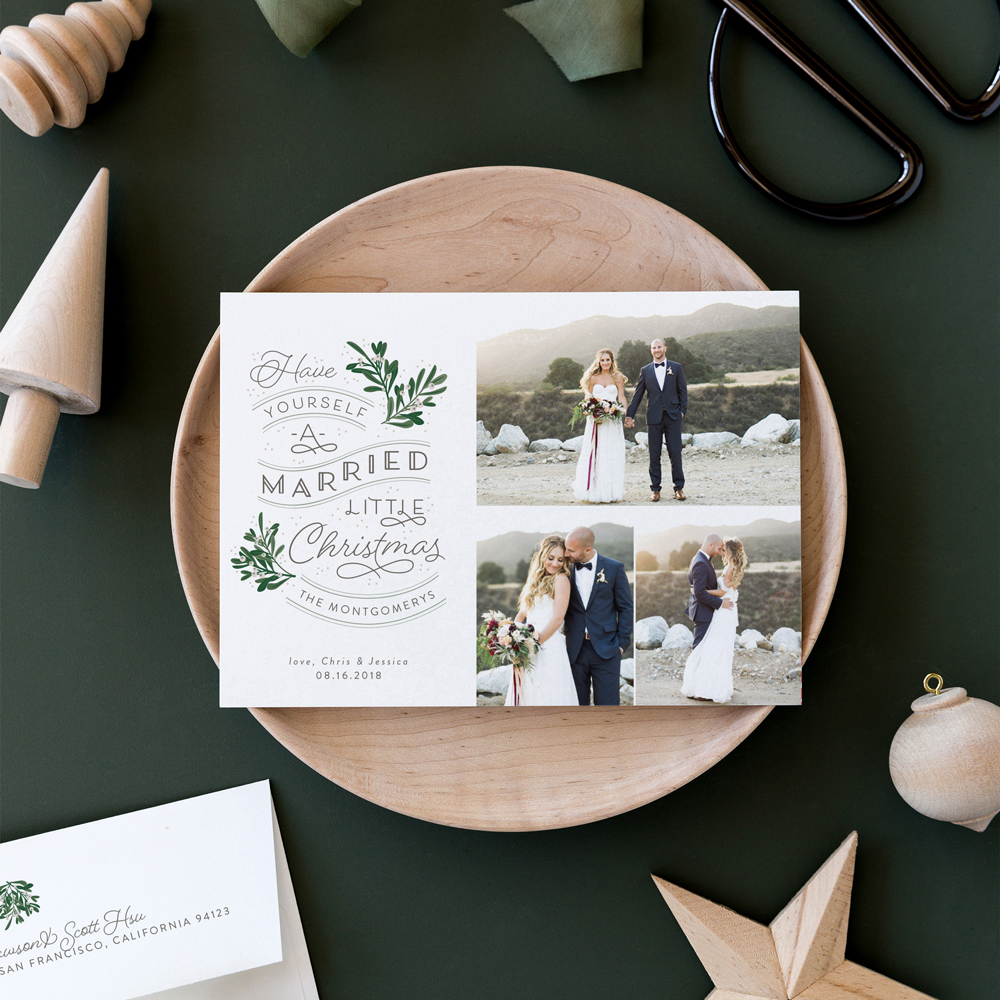 just married christmas cards