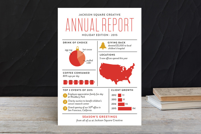 2015 Holiday Card Collection for Minted: Annual Report