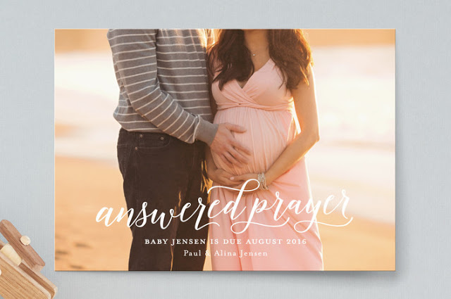 Answered prayer pregnancy announcement