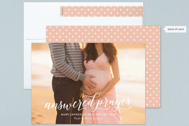 new baby photo cards for Minted