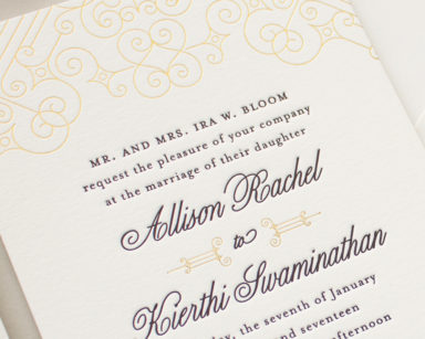 Gold and Black Art Deco Wedding Invitations | Posh Foil