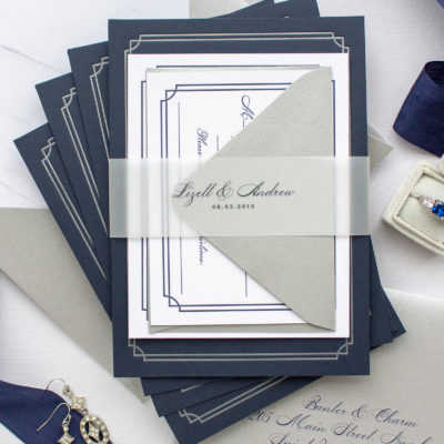 Custom Invitations for Notre Dame Wedding | Lizett and Andrew