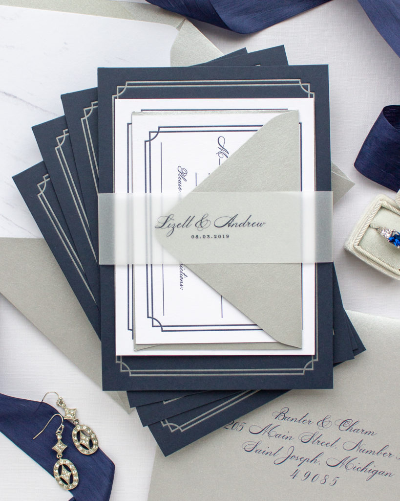 custom invitations for notre dame wedding
