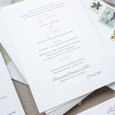 Beaver Creek wedding invitations