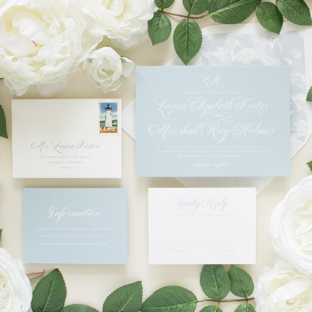 east coast wedding invitations