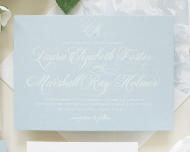Beloved | Dusty Blue Wedding Invitations