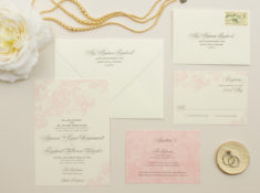 romantic pink wedding invitations