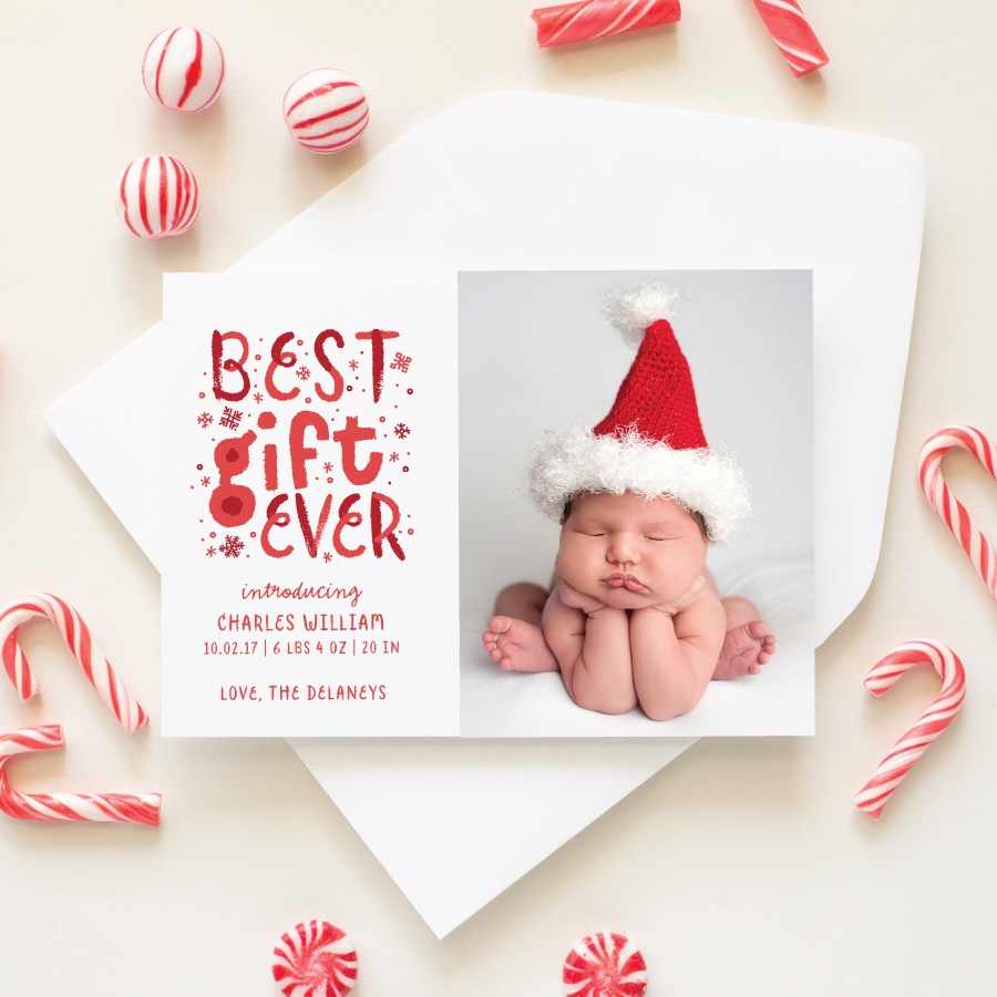 Birth Announcement Christmas Cards | 2017 Holiday Collection ...