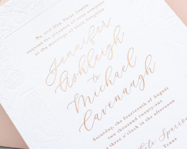 Rose Gold Foil Wedding Invitations | Charming