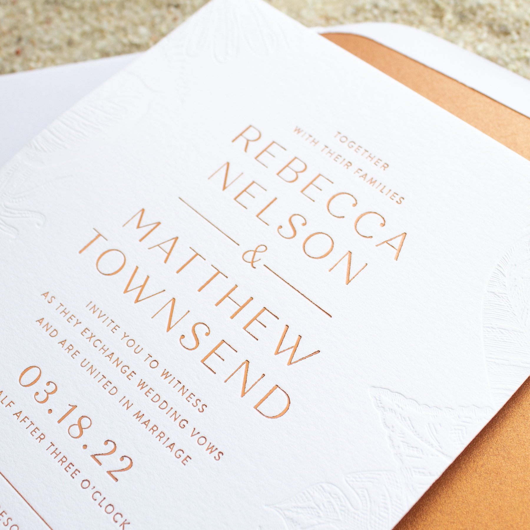 luxury destination wedding invitation