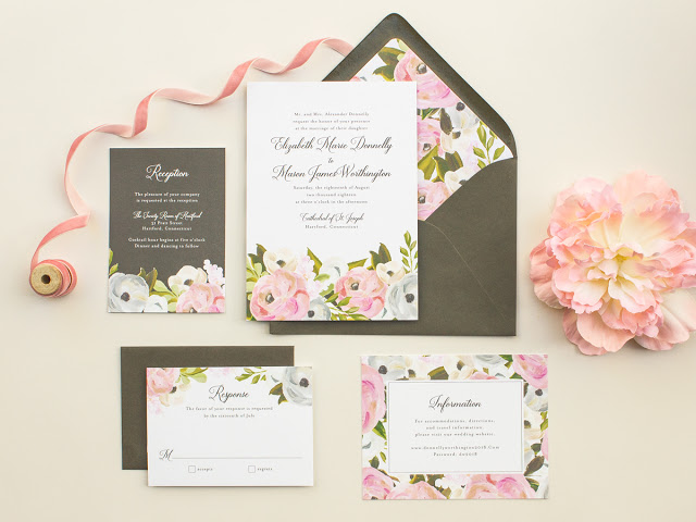 gouche paint wedding invitations
