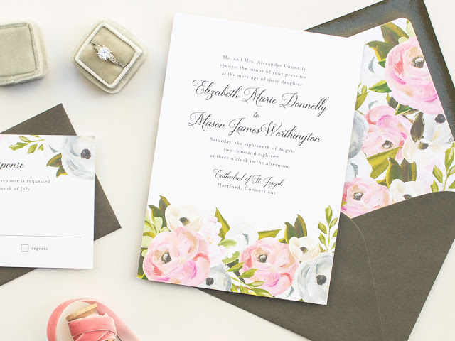 traditional floral invites