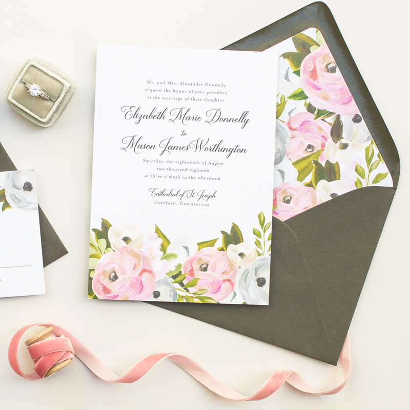 classic wedding stationery