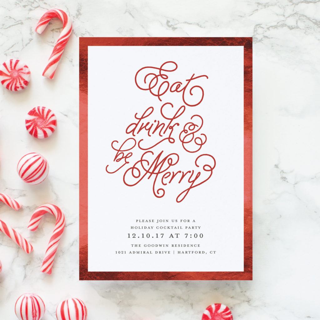 eat drink and be merry party invitations