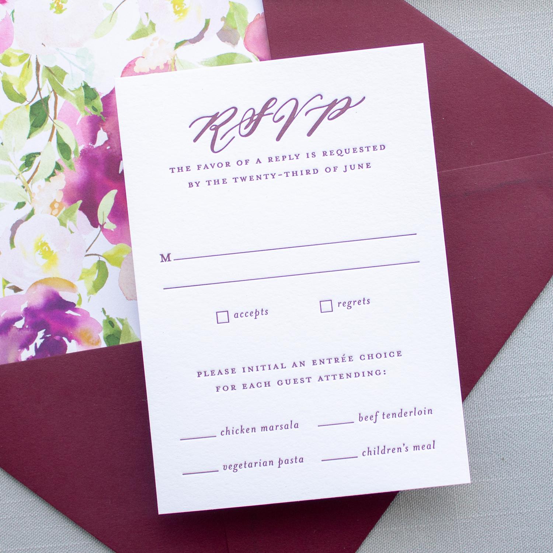letterpress rsvp card