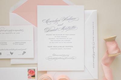 typographic invitation in letterpress