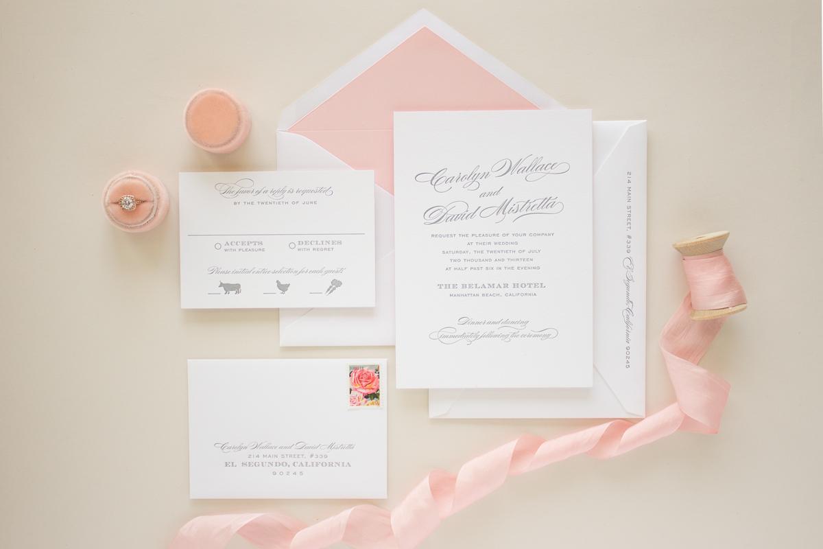 typographic letterpress invitation