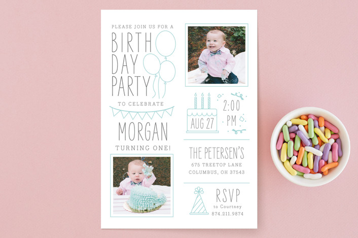 party invites with photos