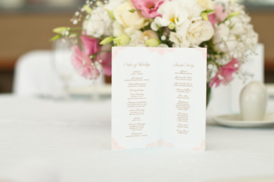 booklet style wedding program design