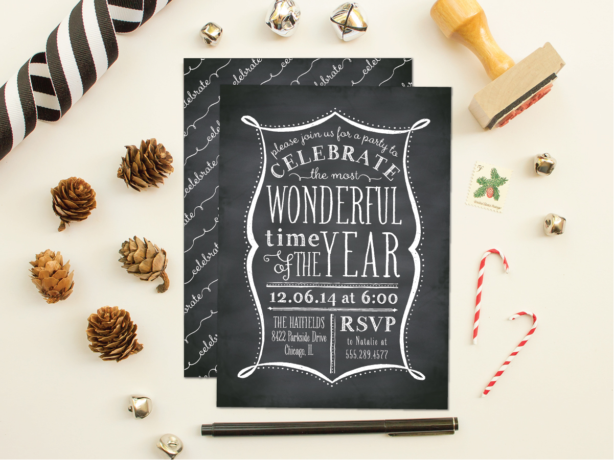 2014 Holiday Collection: Party Invitations