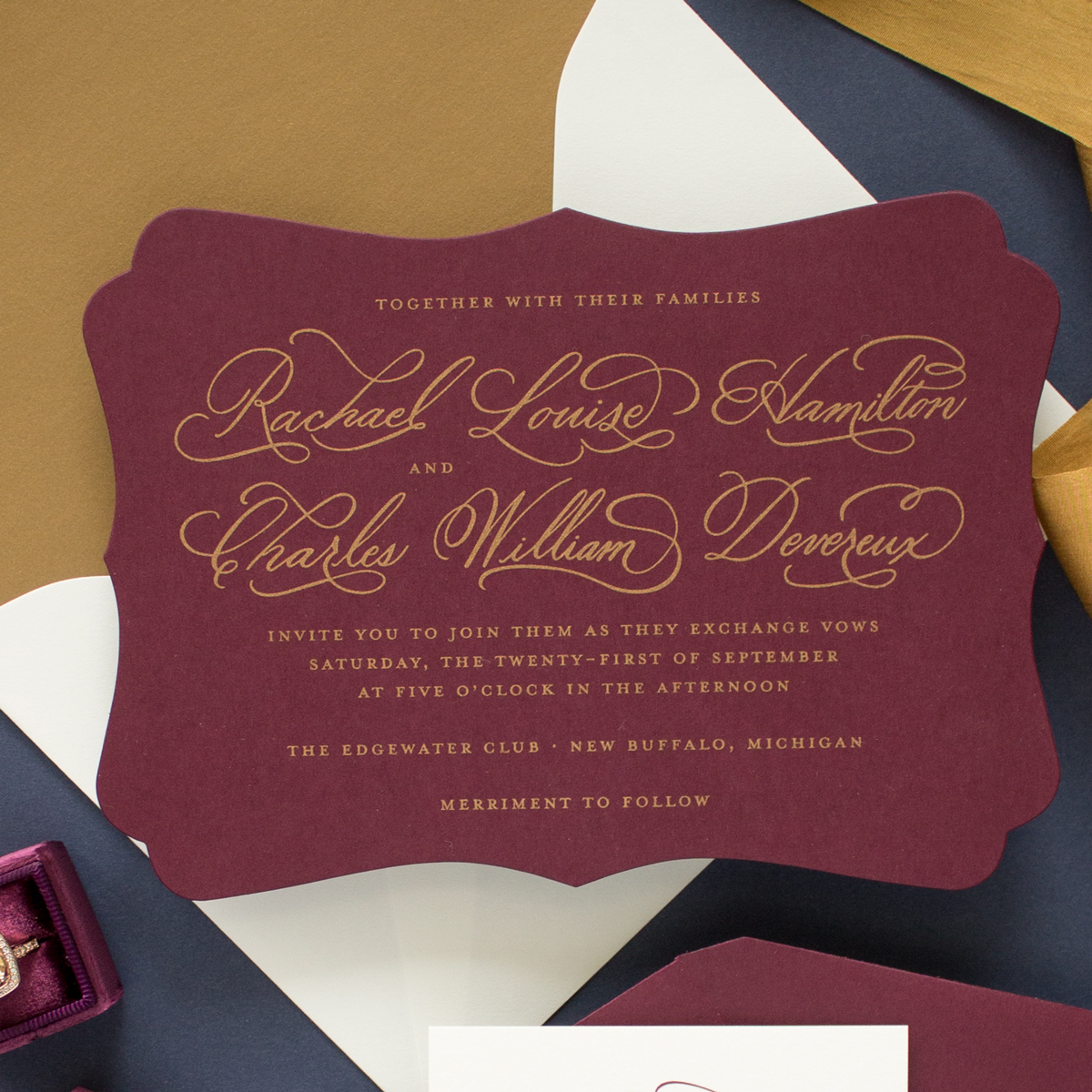 custom hand calligraphy invitation