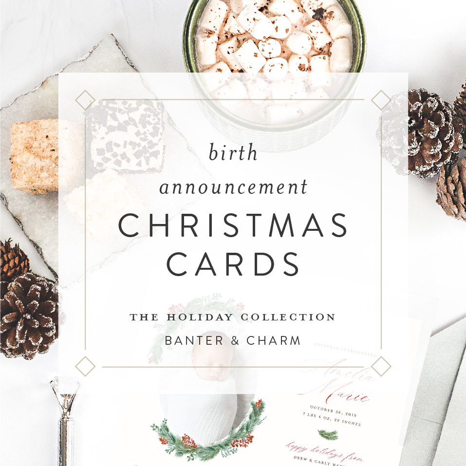 Christmas card birth announcements