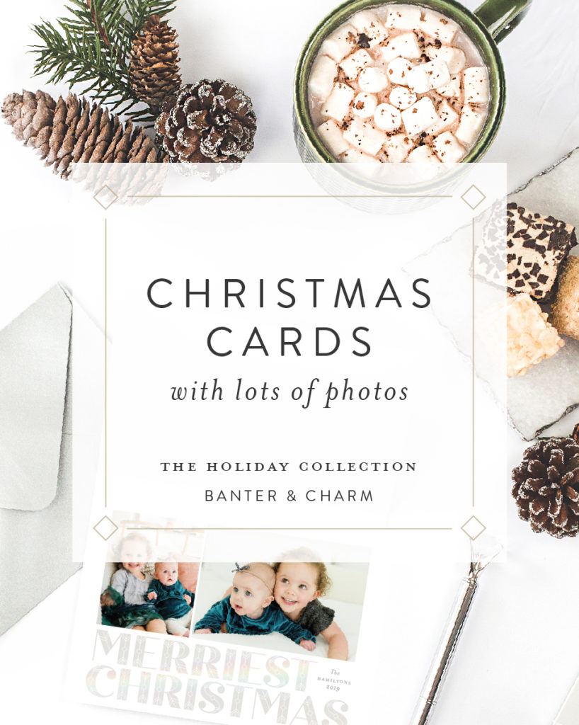 Christmas cards with lots of photos