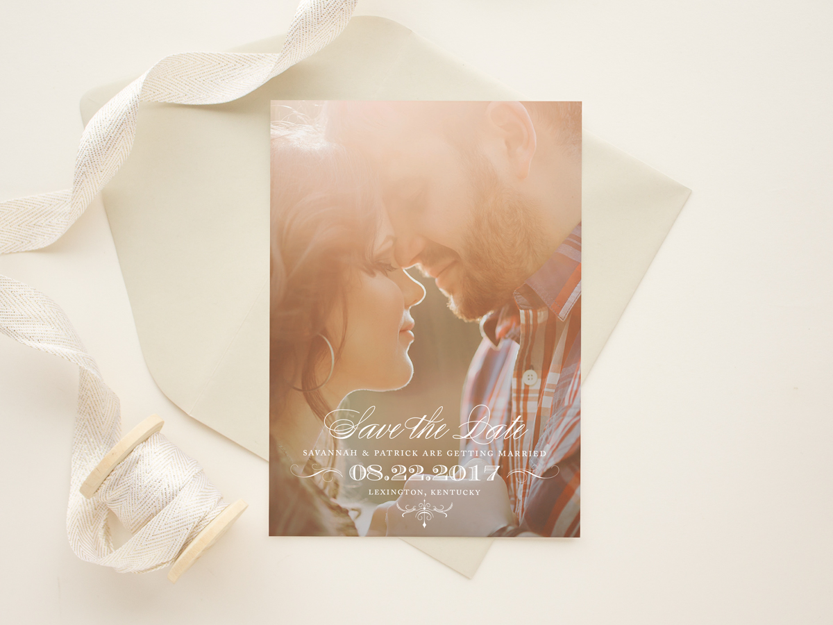 Classically Typographic Save The Date