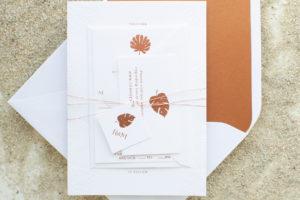 Destination Wedding Invitations with Palm   Palmetto