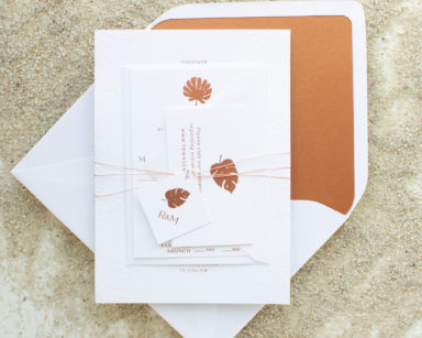 Destination Wedding Invitations with Palm | Palmetto