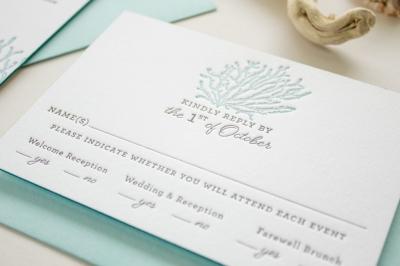 destination wedding reply card