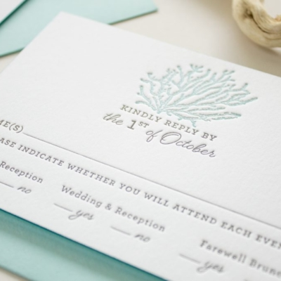 destination wedding reply card