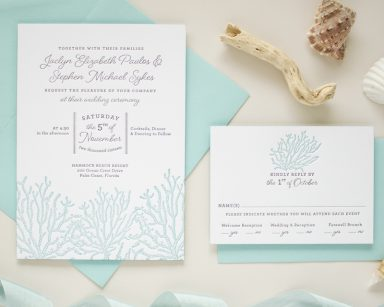 Beach Themed Wedding Invitations | Coral Reef