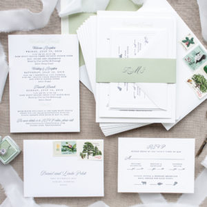 Formal Invitations for Destination Wedding in the Mountains | Tracy