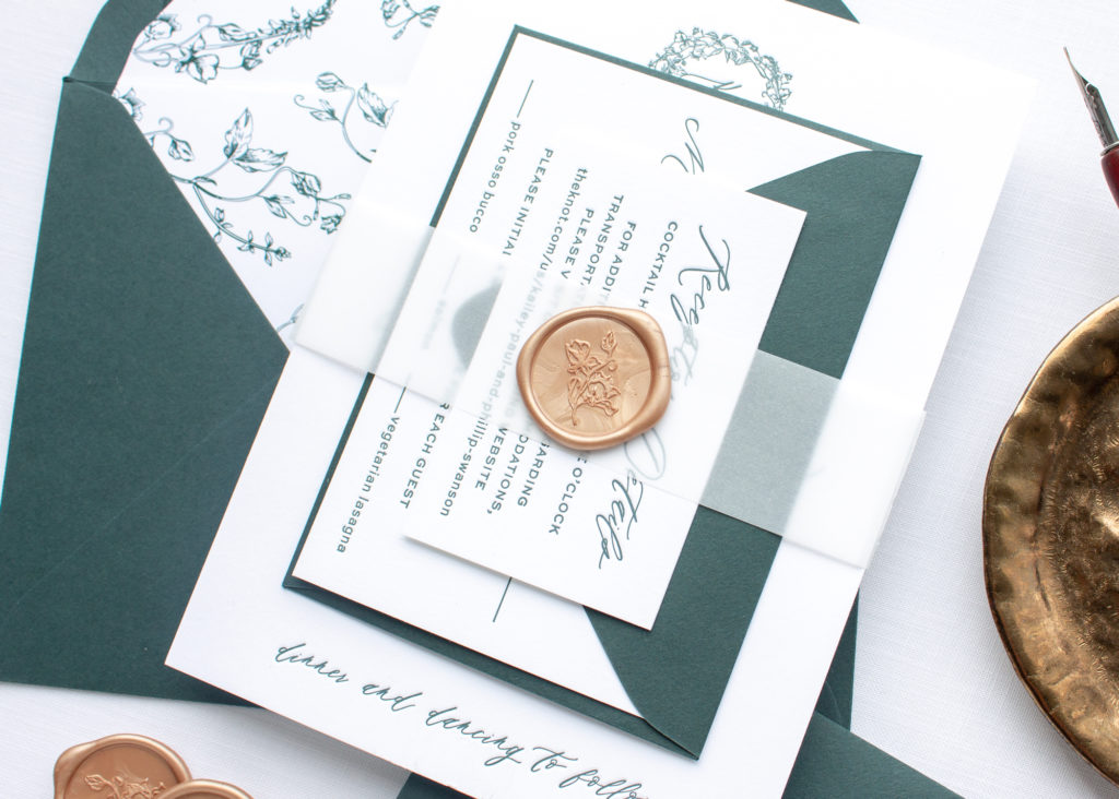wax seal on vellum belly band